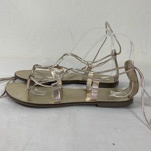 Urban Outfitters Gladiator sandals 8 light gold
